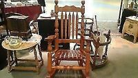wood rocking chaire