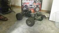 Savage Remote control gas powered truck