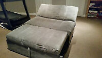 Ikea Light microfiber grey double sofa double bed 6 month use