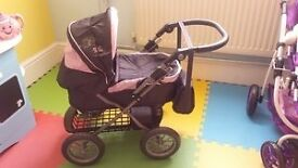 collapsible dolls pram and bag for sale