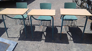 2 vintage school desks  all in very good condition
