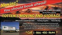 TOTTEN'S MOVERS 902-629-1544 For Quickest service to Ontario/QUE