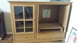 """Oak tv/entertainment stand for 36"""" tv"""