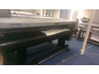Mimaki UJV 160 UV Flat Bed Printer No Laminator Or Solvent Needed