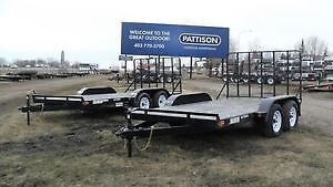 "New 2017 ""Rainbow"" Tandem Axle 12' &14' Utility Trailers"