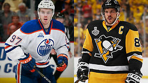 McDAVID / Oilers v CROSBY / Penguins  Mar 10  Section 104, Row 7 Edmonton Edmonton Area image 1