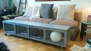 STEAM PUNK TV STAND/TABLE with STORAGE