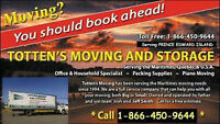 TOTTEN'S MOVERS 902-629-1544 Serving PEI, NB, NS, Que/Ont, NF