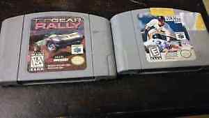 n64 games all star baseball and top gear rally