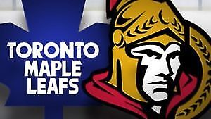 Sens vs Leafs Pair in section 101 for $550 parking included