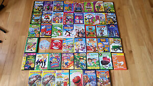 42 Gently Used Kids Dvd's, Movies and Dvd Games For Sale