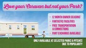 LOVE YOUR CARAVAN BUT NOT YOUR PARK?? CARAVANS FOR SALE AT CRIMDON DENE 12 MONTH PARK, PET FRIENDLY