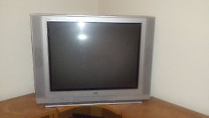 JVC (I'Art) 32' Flat Screen (Picture Tube) TV and Stand Cabinet