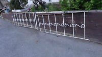Two(2) antique 1920s solid Wrought Iron Fence Pieces!