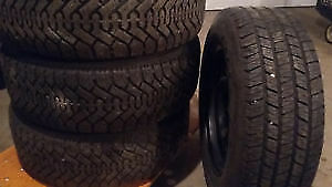 215/65R16 Goodyear Nordic 4 USED WINTER TIRES 75%TREAD LEFT