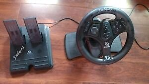 V3 Advanced racing wheel and pedals for PC or Playstation