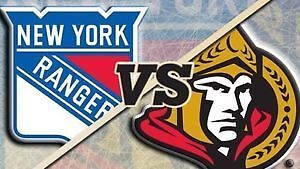 Lower Bowl Tickets for Sens/Rangers