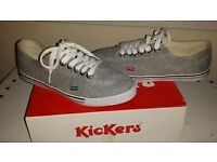 Mens Kickers canvas trainers size 8
