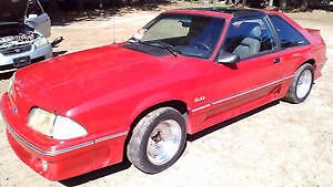 87-93 Ford Mustang Used Red Passenger Door