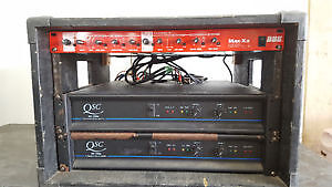 Power Amp Rack with X-Over and Patch Bay
