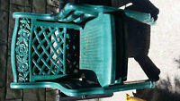 3 sturdy plastic chairs good condition