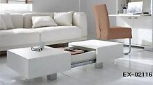 New White High Gloss Modern Coffee Table With Extra Storage Slacks Creek Logan Area Preview