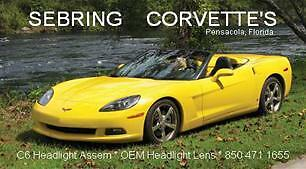 2005--2010 C6 Corvette Headlight Lens Coupe Vert Z06 GS ZR1 Parts number list for sale  Pensacola