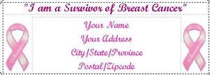 150 I Am a Survivor of Breast Cancer Return Address Labels