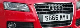 Number Plate SAMEER SAMIR 666 Devil Red