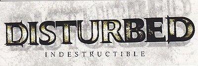 Disturbed Indestructible RARE promo stickers (2 different) '08