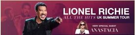 X 2 LIONEL RICHIE TICKETS - FRANKLIN GARDENS NORTHAMPTON FRIDAY 1ST JUNE