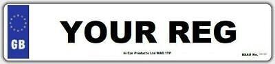 Front Standard GB MOT UK Road Legal Car Van Reg Registration Number Plate