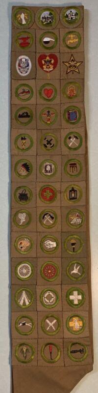 1920s Merit Badge Sash Eagle Scout Square Very Nice (f-5)