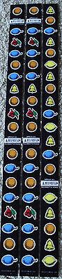 Mills Black Beauty Slot Machine reel strips  CC-539 CC-537-2 CC-537-3