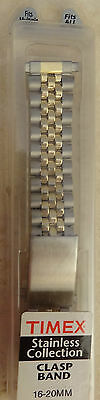 Timex 2 Tone Stainless Steel 16mm 17mm 18mm 19mm 20mm Clasp