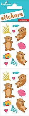 Scrapbooking Stickers PH Slim Cute Otters Fish Coral Hearts Clam Shells Repeats - Fish Stickers
