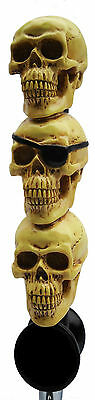 Three Skulls Ales Beer Tap Handle and Car Shifter Knob Cool Skull