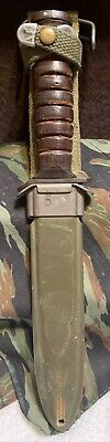 Vintage WWII Guard Marked Camillus M3 Trench Knife w/ Original M8 Scabbard