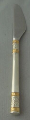 Wallace Golden Aegean Weave Sterling Silver Individual Butter Spreader