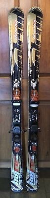 154 cm Nordica Hot Rod Nitrous skis + Nordica integrated system bindings [or]