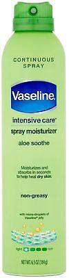 Vaseline Spray - Go Moisturizer, Aloe Fresh, 6.5 oz ()
