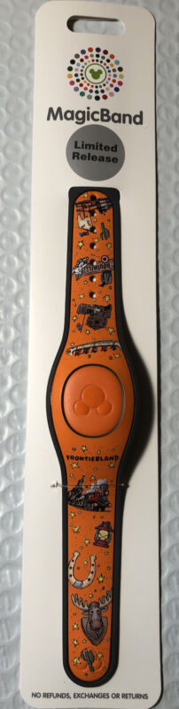 Disney World Frontierland Big Thunder Mountain Orange Magicband Linkable - NEW