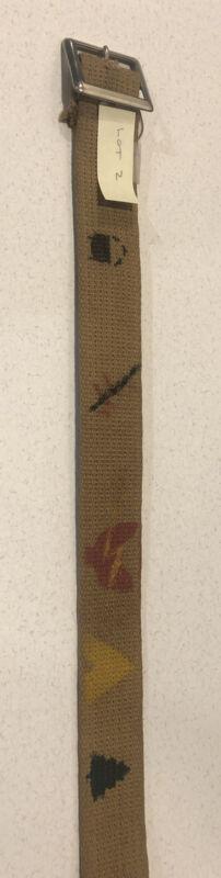 Vintage 1940s Boy Scout Belt Hand Painted Original Art Known Provenance Size 32