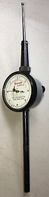 Starrett No.650-5 Back-plunger Dial Indicator .0005 Grads 0-20-0 Dial Reading