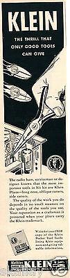 1956 Print Ad of Mathias Klein & Sons Tools Radio Ham Serviceman Pliers Kleine Ham Radio