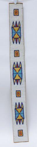 "Antique Kutenai  Indian Beaded Belt Strip  c. 1890 36.5"" x 4"""