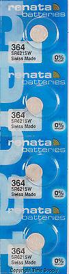 4 pcs 364 Renata Watch Batteries SR621SW FREE SHIP 0% MERCURY