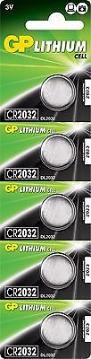 GP Lithium Button Cell Batteries 3V CR2032 Pack of 5 High Capacity 210mAh ()