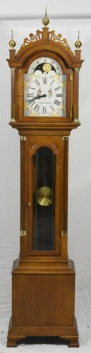 Colonial Company SIMON WILLARD TALL CASE CLOCK GRANDFATHER Chippendale Style