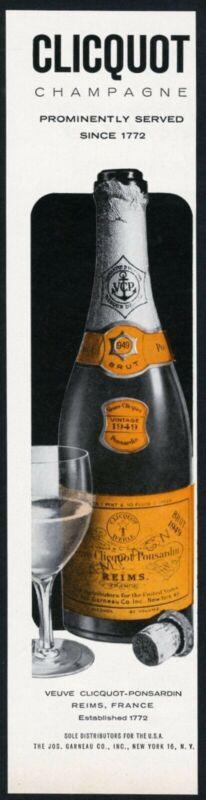 1957 Veuve Clicquot Brut champagne 1949 bottle photo vintage print ad